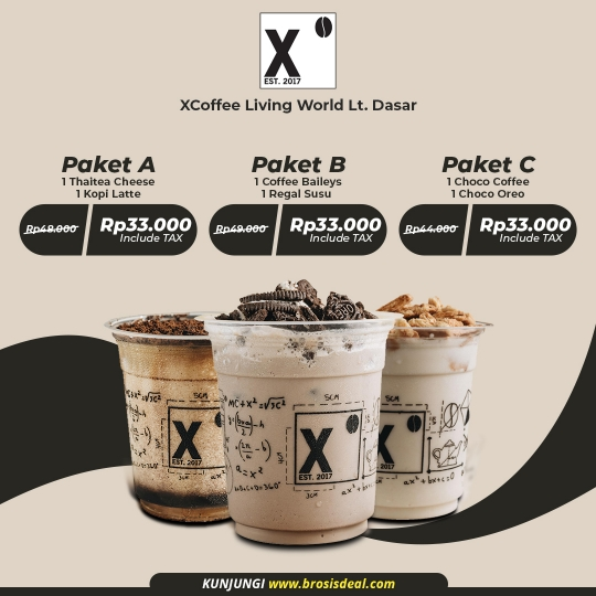 Xcoffee Living World Berdua Deal