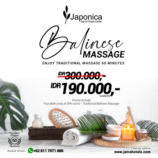 Japonica Balinese Massage Deal