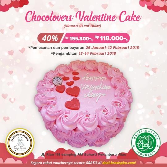 Jajanan Bandung Chocolovers Valentine Cake Deal
