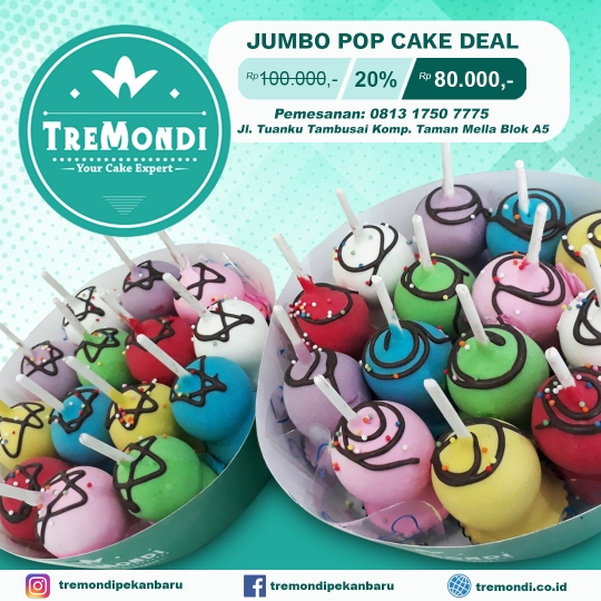 Tremondi Jumbo Pop Cake Deal