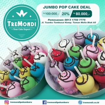 Tremondi Jumbo Pop Cake Deal