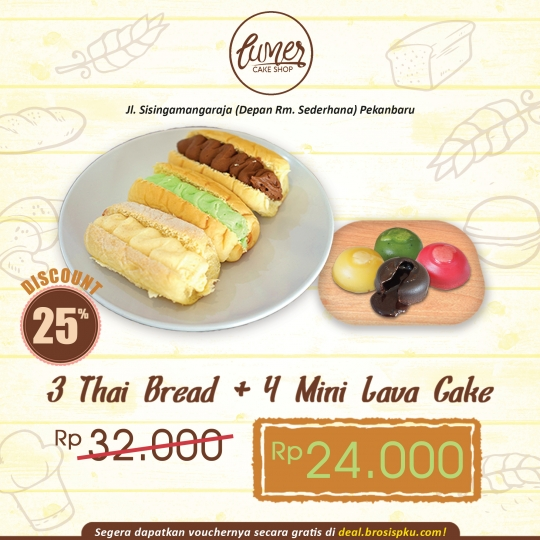 Lumer Thai Bread X Mini Lava Cake Deal
