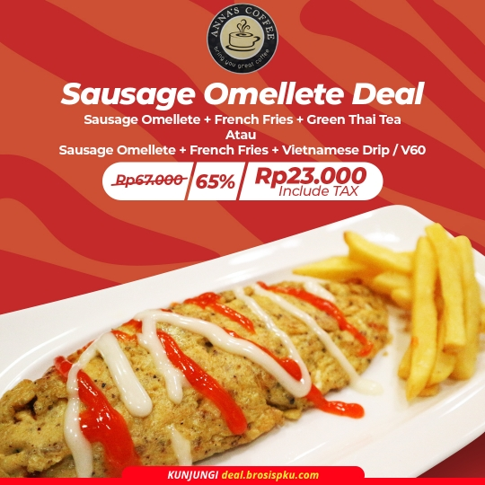 Annas Coffee Sausage Omellete Deal