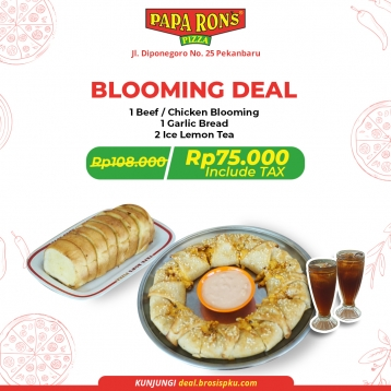 Paparons Pizza Blooming Deal