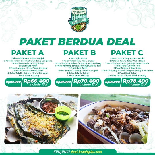 Ikan Bakar Bumbu Uwo Paket Berdua Deal