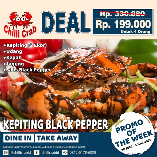 Chilli Crab Kepiting Blackpepper Deal