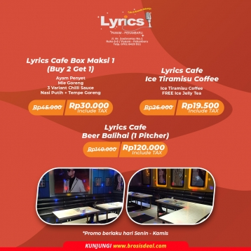 Lyrics Cafe & Karaoke Keluarga Maksi Deal (monday-thursday)