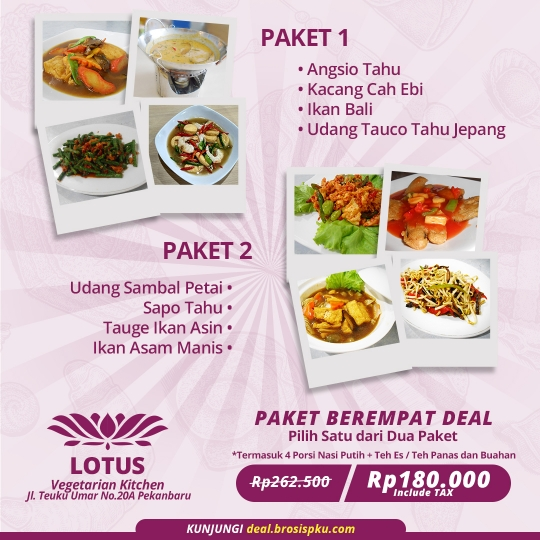 Lotus Vegetarian Kitchen Berempat Deal
