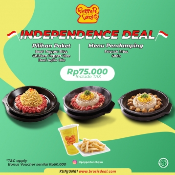 Pepper Lunch Independence Deal (monday-friday)