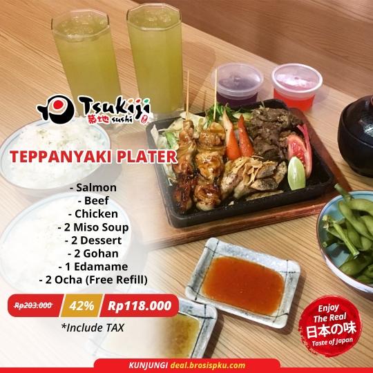 Tsukiji Sushi Teppanyaki Plater Deal
