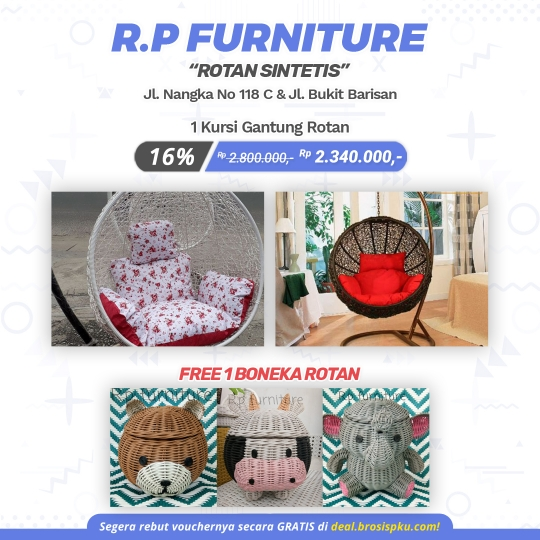 Rp Furniture Kursi Gantung Rotan Deal