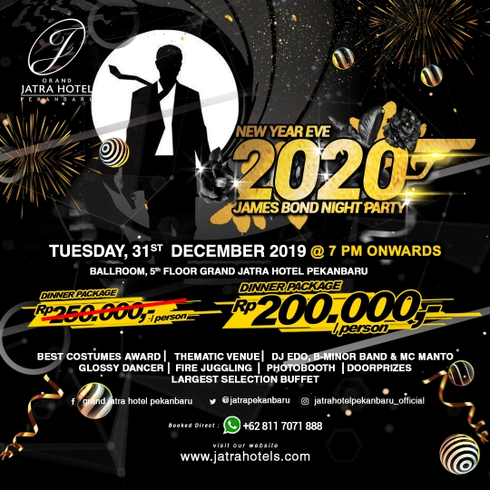 Jatra Nye 2020 James Bond Night Party Deal