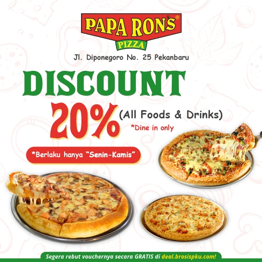 Paparons Pizza All Item Deal