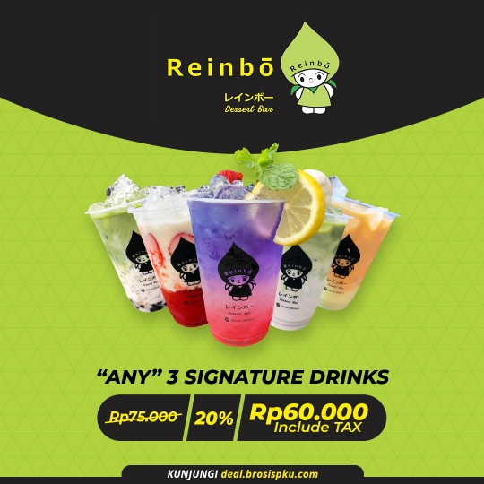 Reinbo Dessert Bar 3 Signature Drink Deal