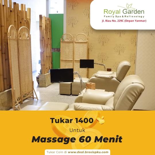 Royal Garden Family Spa 1 Voucher Massage 60 Menit
