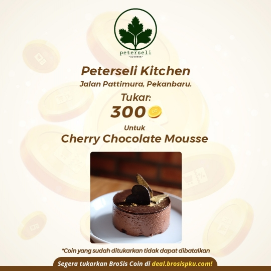 Peterseli Kitchen 1 Voucher Cherry Chocolate Mousse