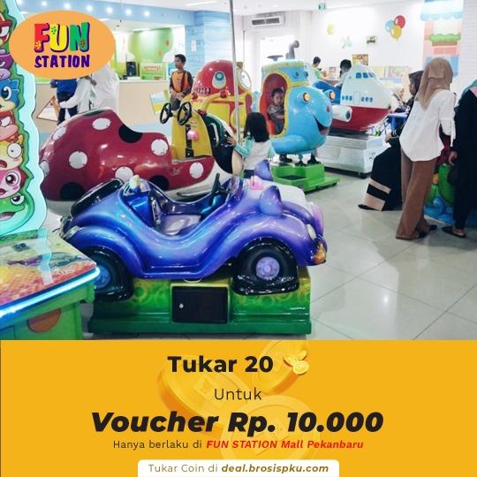 Fun Station Mall Pekanbaru 1 Voucher Rp 10.000