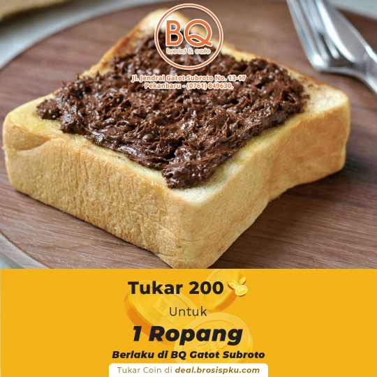 Breadboutique 1 Voucher 1 Pcs Ropang Coklat