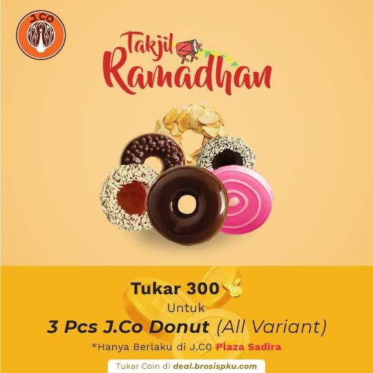 J.co Pekanbaru 1 Voucher 3 Pcs J.co Donut