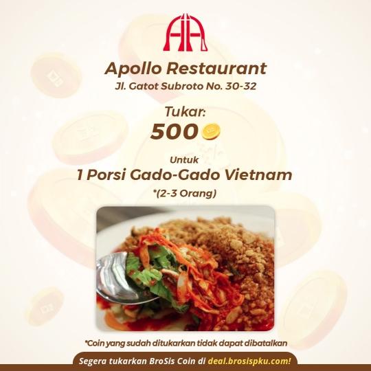 Apollo Restaurant 1 Voucher Gado-gado Vietnam