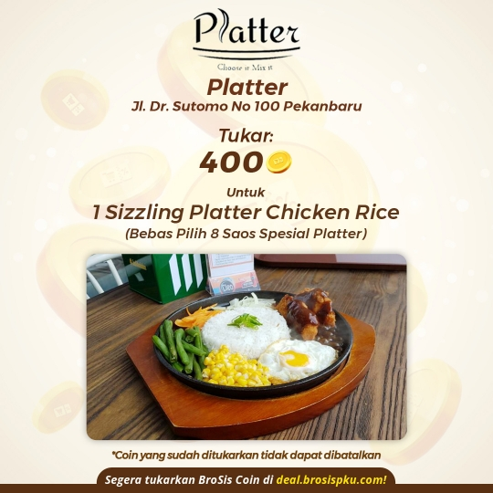Platter 1 Porsi Chicken Rice