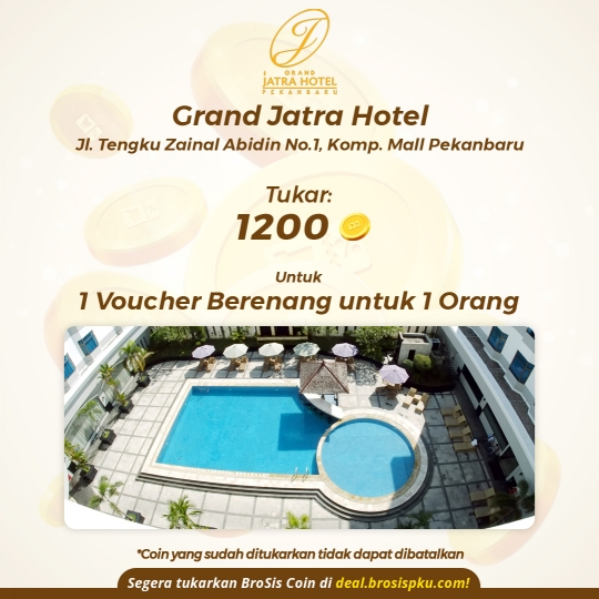 Grand Jatra Hotel 1 Voucher Berenang (monday-friday)