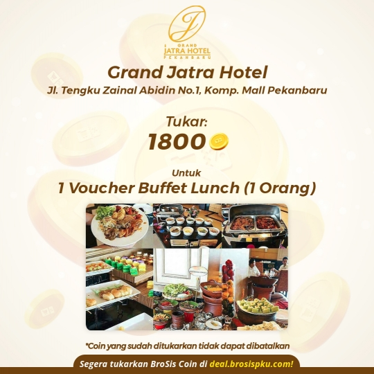 Grand Jatra Hotel 1 Voucher Buffet Lunch (monday-friday)
