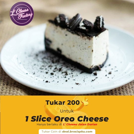 Lcheese Factory 1 Voucher 1 Slice Oreo Cheese Cake